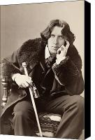 Hairstyle Photo Canvas Prints - Oscar Wilde (1854-1900) Canvas Print by Granger
