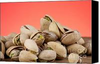 Snack Food Canvas Prints - Pistachios  Canvas Print by Blink Images