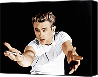T-shirt Photo Canvas Prints - Rebel Without A Cause, James Dean, 1955 Canvas Print by Everett
