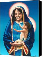 Photorealism Canvas Prints - The Madonna of Puerto Nuevo Canvas Print by Charles Ragsdale