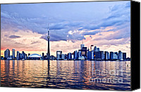 Scenic Canvas Prints - Toronto skyline Canvas Print by Elena Elisseeva