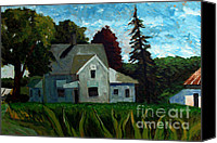 Farm Houses Canvas Prints - 930 A M 400e 400n Canvas Print by Charlie Spear