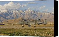 Afghanistan Canvas Prints - A-10 Warthog at Bagram Canvas Print by Tim Grams