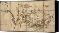 New World Canvas Prints - A 1801 Map Of North America Showing Canvas Print by Everett