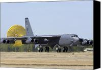 Braking Canvas Prints - A B-52 Stratofortress Deploys Its Drag Canvas Print by Stocktrek Images