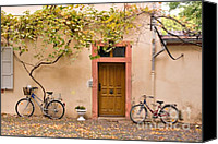 Vine Canvas Prints - A Back Lane in Speyer Canvas Print by Louise Heusinkveld