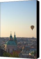 Prague Castle Canvas Prints - A balloon over Prague Canvas Print by Hideaki Sakurai