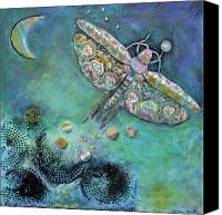 Moon Jewelry Canvas Prints - A Beacon in the Night Canvas Print by Mirinda Kossoff