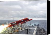 Warship Canvas Prints - A Bqm-74e Aerial Target Drone Canvas Print by Stocktrek Images