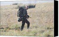 Foot Patrol Canvas Prints - A British Army Soldier On Foot Patrol Canvas Print by Andrew Chittock