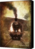 Locomotive Canvas Prints - A Bygone Era Canvas Print by Meirion Matthias