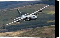 Royal Air Force Canvas Prints - A C-130 Hercules Of The Royal Air Force Canvas Print by Andrew Chittock
