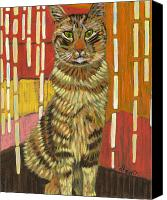 Doodle Canvas Prints - A Cat for Tamar Canvas Print by David  Hearn
