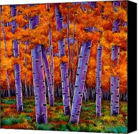 Leaves Painting Canvas Prints - A Chance Encounter Canvas Print by Johnathan Harris