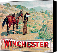Winchester Canvas Prints - A Chance Shot Canvas Print by A B Frost
