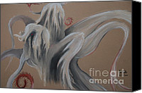 Creepy Pastels Canvas Prints - A Childs Mind Canvas Print by Alec  Pydde