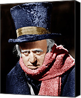 1950s Movies Canvas Prints - A Christmas Carol, Alastair Sim, 1951 Canvas Print by Everett