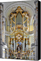 Frauenkirche Canvas Prints - A church filled with music - Church of Our Lady Dresden Canvas Print by Christine Till