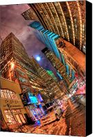 Nyc Photo Canvas Prints - A Citys Patience Canvas Print by Joshua Ball