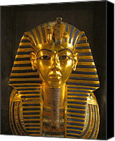 Photography Studio Canvas Prints - A Close View Of The Gold Funerary Mask Canvas Print by Kenneth Garrett