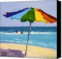 Shore Painting Canvas Prints - A Colorful Spot Canvas Print by Debbie Miller