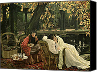 Tissot Canvas Prints - A Convalescent Canvas Print by James Jacques Joseph Tissot