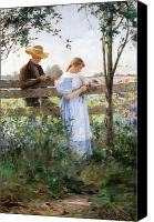 Engagement Canvas Prints - A Country Romance Canvas Print by David B Walkley