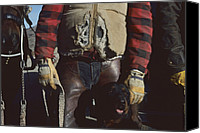 Animals Canvas Prints - A Cowboy, Wearing A Ripped Jacket Canvas Print by Joel Sartore