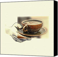 Impressionism Art Mixed Media Canvas Prints - A Cup of Tee 2 Canvas Print by Stefan Kuhn
