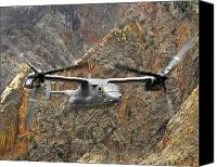 Osprey Canvas Prints - A Cv-22 Osprey Flies Over The Canyons Canvas Print by Stocktrek Images
