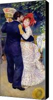 Engagement Painting Canvas Prints - A Dance in the Country Canvas Print by Pierre Auguste Renoir