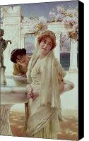 Alma-tadema; Sir Lawrence (1836-1912) Canvas Prints - A Difference of Opinion Canvas Print by Sir Lawrence Alma-Tadema