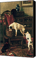 Dogs Canvas Prints - A Discreet Inquiry Canvas Print by Rupert Arthur Dent