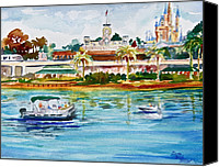 Disney Canvas Prints - A Disney Sort of Day Canvas Print by Laura Bird Miller