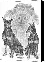 Dobermann Canvas Prints - A Doberman Knows - Dobe Pinscher Art Print Canvas Print by Kelli Swan