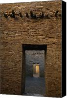 Image Setting Photo Canvas Prints - A Doorway And Walls Inside Pueblo Canvas Print by Bill Hatcher