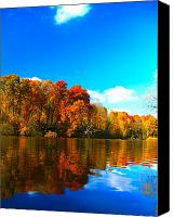 Fall Foliage Artwork Canvas Prints - A Fall Reflection Canvas Print by Robert Pearson