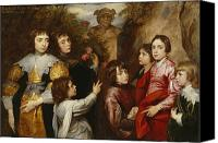 Van Dyke Canvas Prints - A Family Group Canvas Print by Sir Anthony van  Dyck