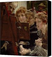 Alma-tadema; Sir Lawrence (1836-1912) Canvas Prints - A Family Group Canvas Print by Sir Lawrence Alma-Tadema