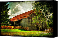 Lois Bryan Canvas Prints - A Farm-Picture Canvas Print by Lois Bryan