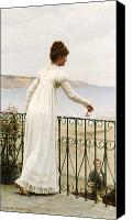 Admiration Canvas Prints - A Favour Canvas Print by Edmund Blair Leighton