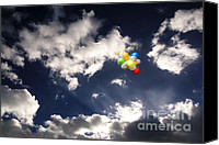 Baloons Canvas Prints - A Flight From Drama Canvas Print by Rosa Cobos