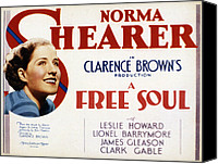 Posth Canvas Prints - A Free Soul, Norma Shearer, 1931 Canvas Print by Everett