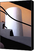 Barcelona Digital Art Canvas Prints - A Gaudi Staircase Canvas Print by Linda  Parker