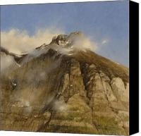 Landscape Canvas Prints - A Glacier Peak In The Mist Canvas Print by Gary Kaemmer