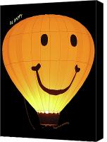 Hot Air Balloons Canvas Prints - A Glowing Smile Canvas Print by DigiArt Diaries by Vicky Browning