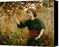 Reaching Canvas Prints - A Golden Dream Canvas Print by Thomas Cooper Gotch