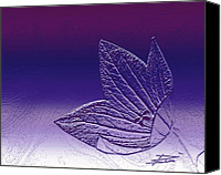 Etch Canvas Prints - A Good Day for Purple Canvas Print by Barbara  White