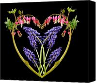 Flower Design Canvas Prints - A Heart of Hearts Canvas Print by Michael Peychich