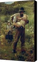 Asleep Painting Canvas Prints - A Heavy Burden Canvas Print by Arthur Hacker